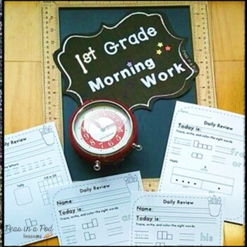 1st Grade Morning Work ~ Math & Language Arts for First Grade Daily Review