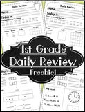 FREE 1st Grade Morning Work ~ Math & Language Arts for First Grade Daily Review