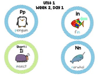 First Grade Daily Word Work (Unit 1, Week 2)