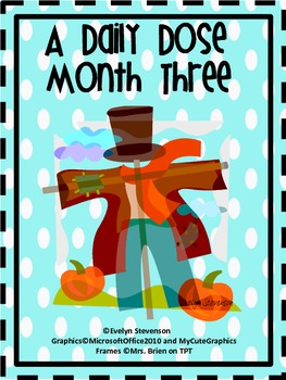 First Grade Daily Work Daily Dose Month Three
