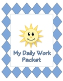 First Grade Daily Work Packet