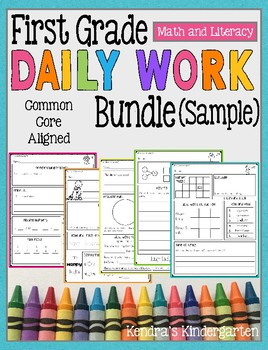 First Grade Daily Work Sample