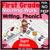 Daily Writing, First Grade~Language, Sight Word Practice~N