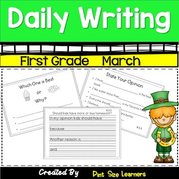 Writing Daily in First Grade   March