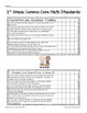 First Grade Data Binder CC ELA and Math Student Checklists