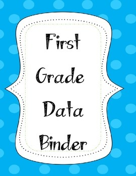 First Grade Data Binder Label