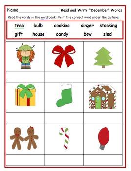 First Grade December