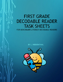 First Grade Decodable Reader Task Sheets for Benchmark Lit