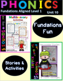 5 Sounds Decodable Stories and Activities Level 1 Unit 10