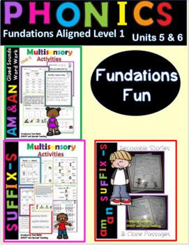 -am &-an Decodable Stories and Activities  Level 1 Unit 5 & Unit 6