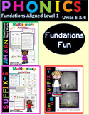 -am &-an Decodable Stories and Activities  Level 1 Unit 5