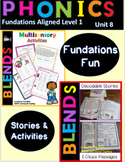 Blends Decodable Stories and Activities Level 1 Unit 8
