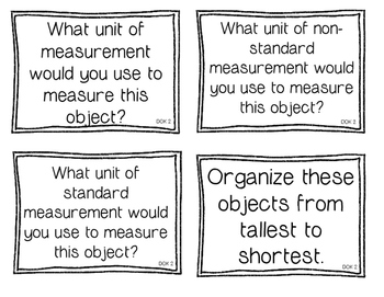 First Grade Depth of Knowledge {DOK} Measurement Questions