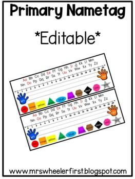 First Grade Desk Nametags