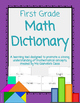 First Grade Dictionary Bundle