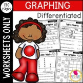 First Grade Differentiated Graphing Worksheets