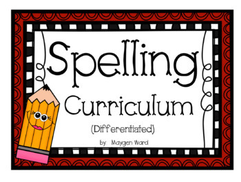 First Grade Differentiated Spelling Bundle