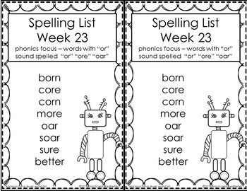 First Grade Differentiated Spelling Lists Unit 5 Bundle