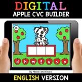 Apple Digital CVC Word Work for Google Classroom - Distanc