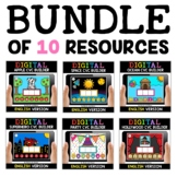 Digital CVC Word Work for Google Classroom Bundle - Distan