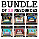 Digital CVCe Word Work for Google Classroom Bundle - Dista