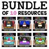 Digital CVCe Word Work for Google Classroom Bundle 2 - Dis