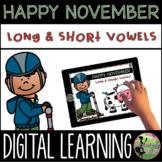First Grade Digital Center: Long vs. Short Vowel Sort (Nov