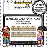 First Grade Digital Daily Math Talks For GOOGLE SLIDES Yea