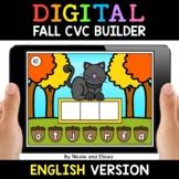 Fall Digital CVC Word Work for Google Classroom - Distance
