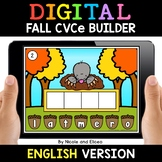Fall Digital CVCe Word Work for Google Classroom - Distanc