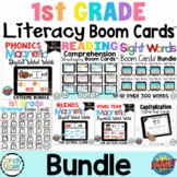 First Grade Boom Cards Distance Learning Bundle for Digita
