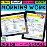 First Grade Digital Morning for use with Google Slides™ Month 10