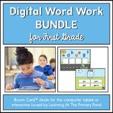 First Grade Phonics Games - Digital Bundle   BOOM Cards™