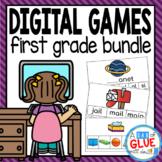 First Grade Digital Learning {Growing} Bundle (1st Grade D