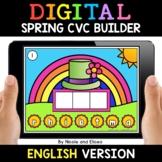 Spring Digital CVC Word Work for Google Classroom - Distan