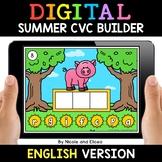 Summer Digital CVC Word Work for Google Classroom - Distan