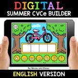 Summer Digital CVCe Word Work for Google Classroom - Dista
