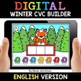 Winter Digital CVC Word Work for Google Classroom - Distan