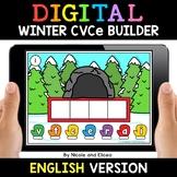 Winter Digital CVCe Word Work for Google Classroom - Dista