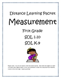 First Grade Distance Learning Packet-Measurement