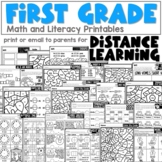 First Grade Distance Learning Packet for April   Everything You Need in 1 Packet