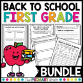 Back to School No Prep Worksheets   Math Writing & First W