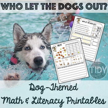 Printable Math & Literacy Fun Sheets for First Graders! ( Dog Themed)