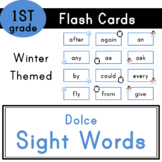 First Grade - Dolce Sight Words - 41 Winter Themed Flash Cards