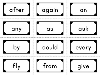 First Grade - Dolce Sight Words - 41 Flash Cards