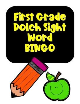First Grade Dolch Sight Word BINGO NO PREP