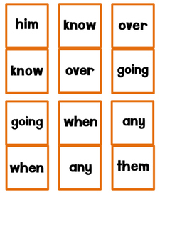 First Grade Sight Word Dominoes Game