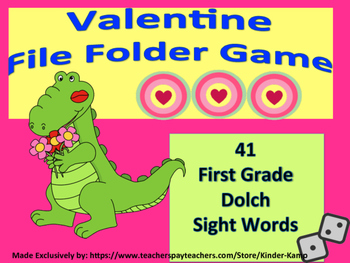 First Grade Dolch Sight Word File Folder Game