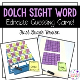 First Grade Dolch Sight Word Guessing Game!