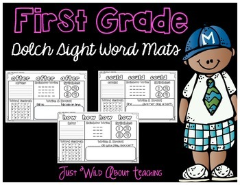 First Grade Dolch Sight Word Mats